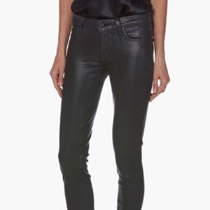 Paige Verdugo Ultra Skinny Black Fog Luxe Coating
